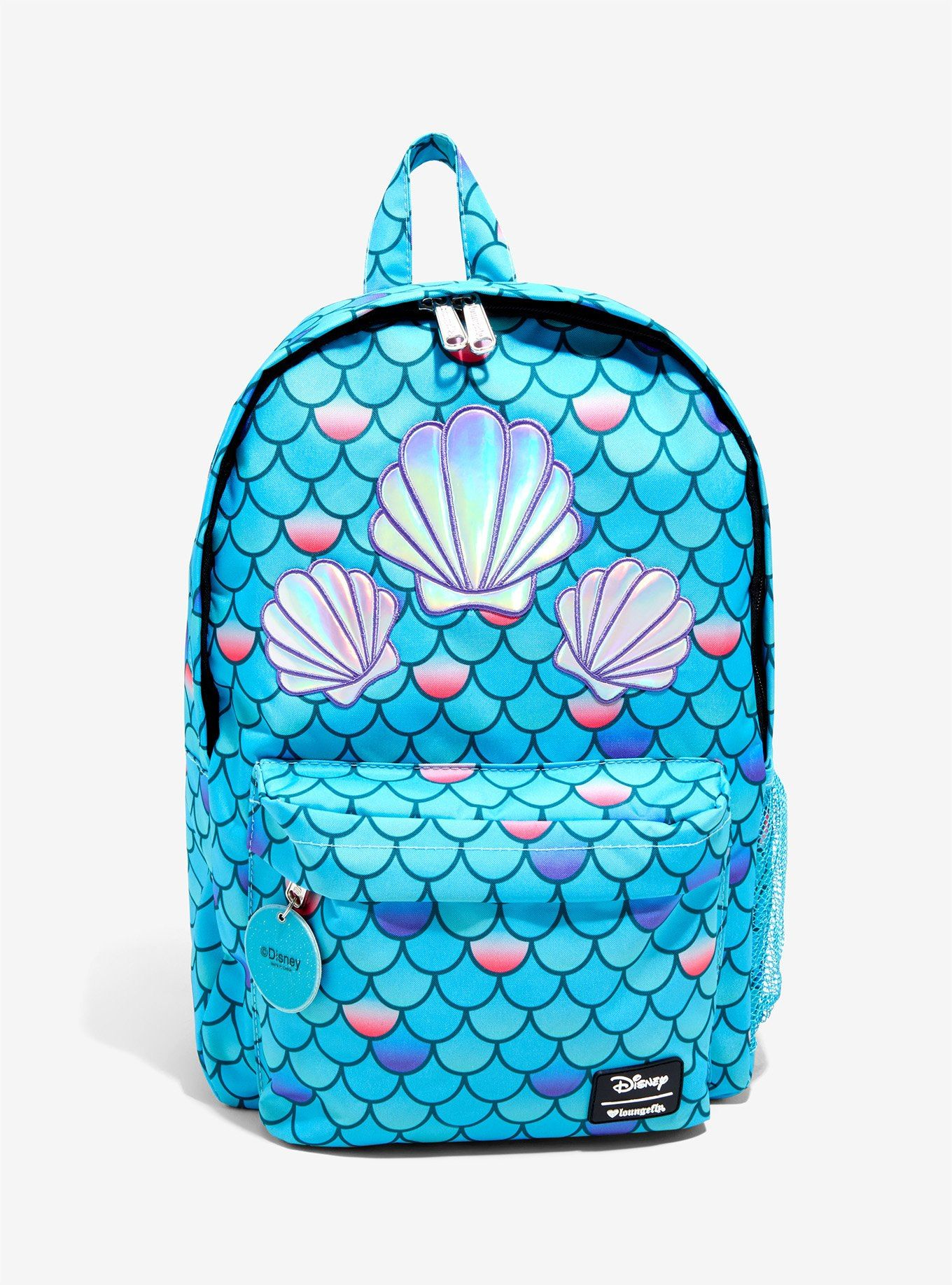 2ccf628e521b Loungefly Disney The Little Mermaid Holographic Shell Scale Backpack ...