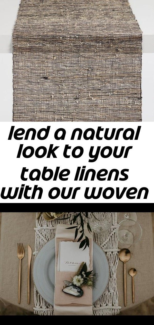 macrame runner Lend a natural look to your table linens with our woven table runner with a mixed black and naturalfiber finish that adds a sense of depth to your tablesca...