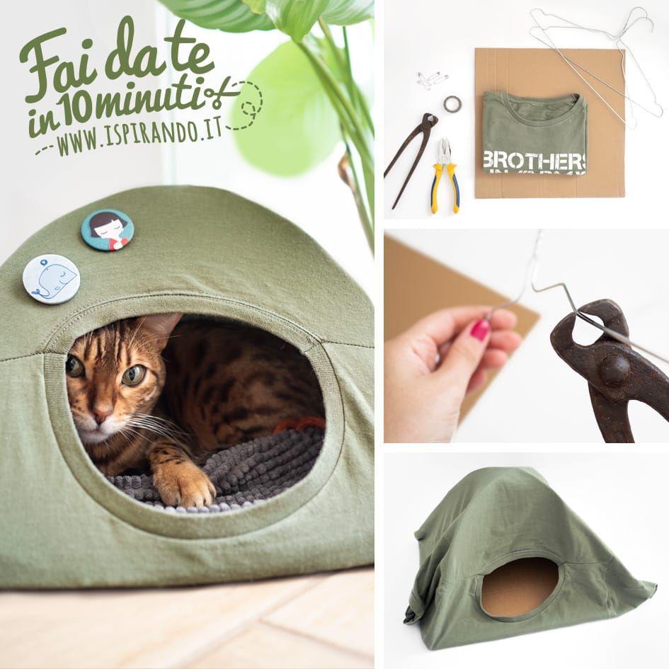 Cuccia Gatto Fai Da Te creare una cuccia per gatti con il riciclo di una maglietta