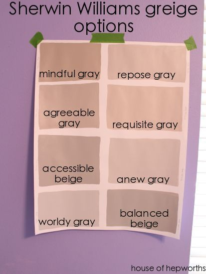 accessible beige sherwin williams | Sherwin Williams SW gray/beige ...
