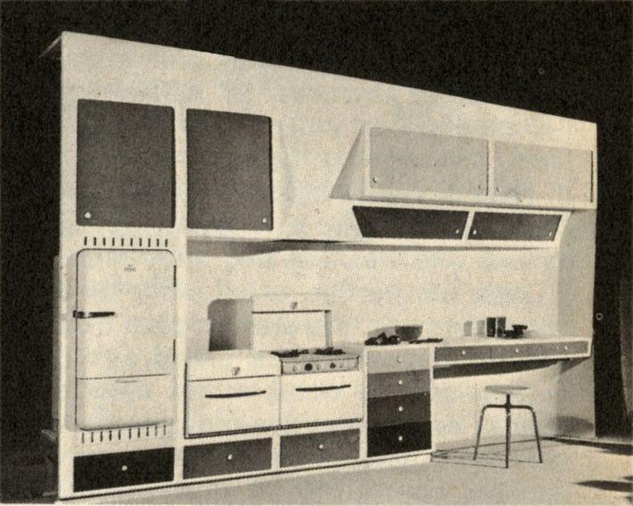 Moul d 39 un seul bloc le mur cuisine en mati res plastiques r unit tous les am nagements - Bloc cuisine compact ...