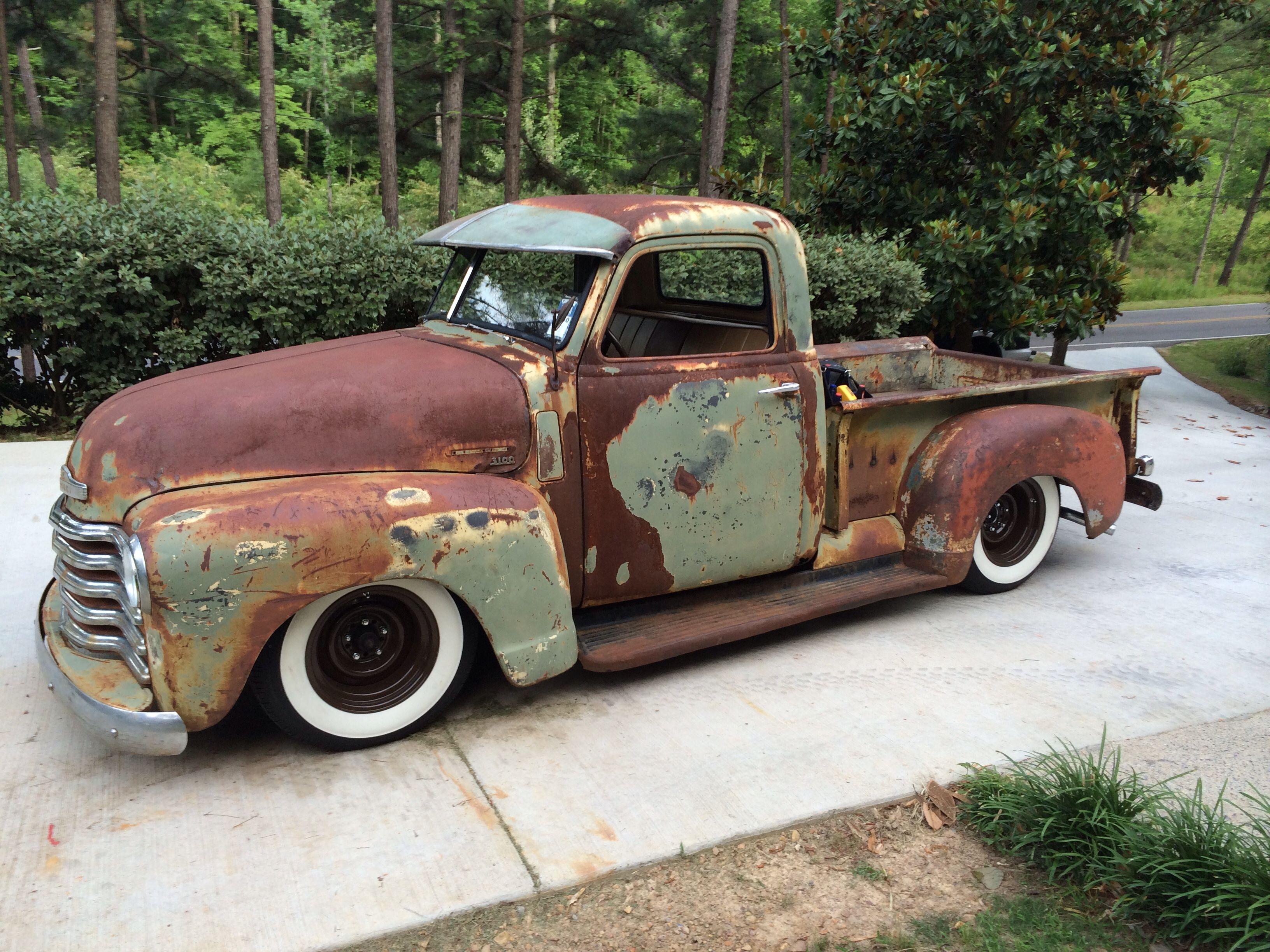 My 1949 Chevy truck patina