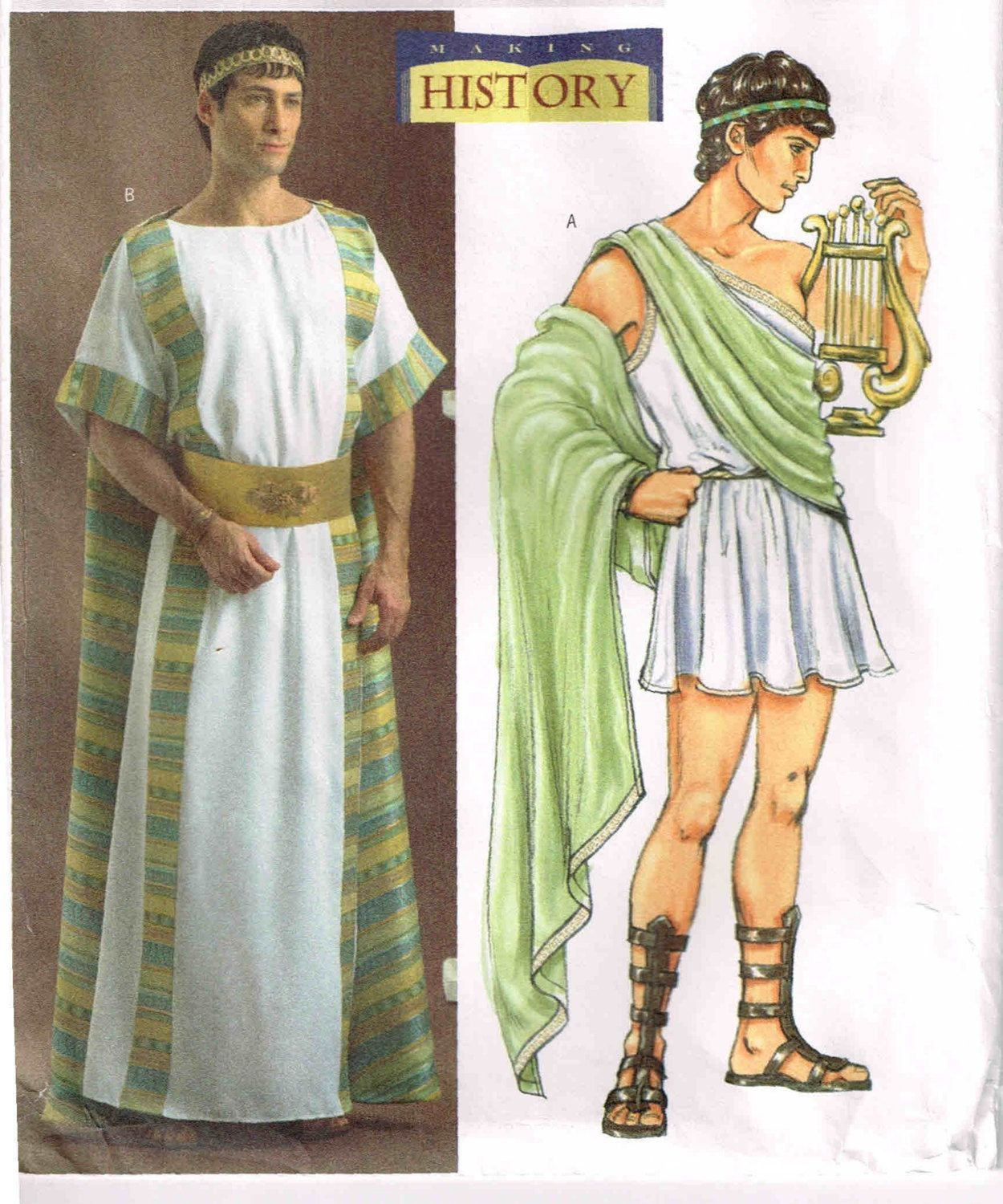 Ancient Roman Clothing For Men: Sewing Pattern Mens Ancient Roman Greek Tunic Toga Robe