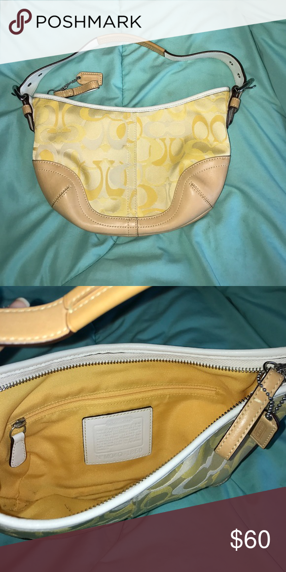 Small Coach Purse Yellow Like New Barely Used Bags Mini