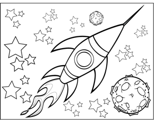 Rocketship And Planet Coloring Page Planet Coloring Pages Space Coloring Pages Coloring Pages