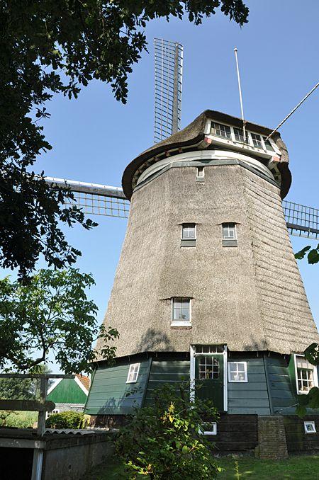 Polder mill (poldermolen), Nederhorst den Berg, the Netherlands.