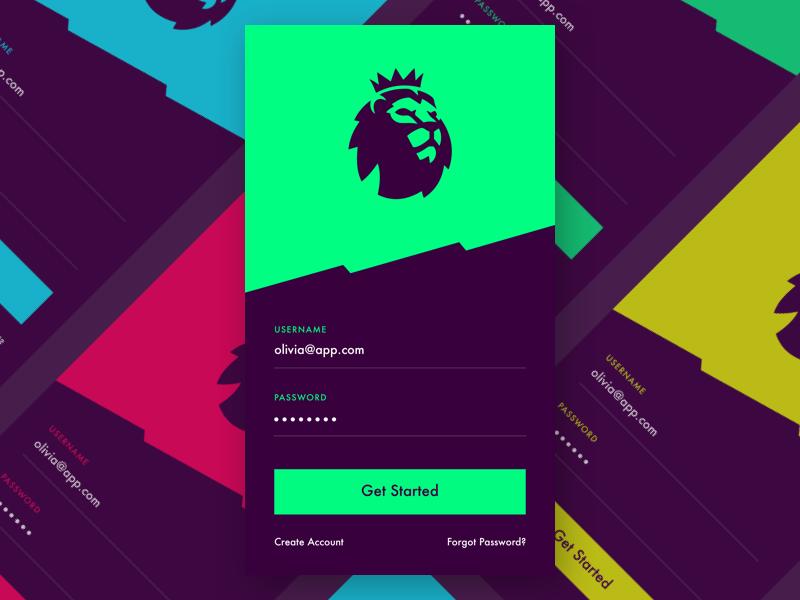 Premier League sign in | UI App | Premier league logo, Epl