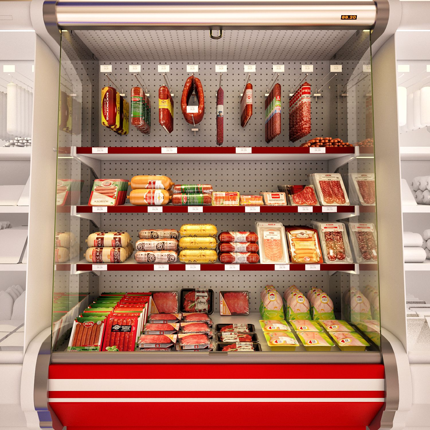 3d models Shop Refrigerated showcase Fortune 2
