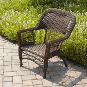 Mainstays All Weather Wicker Chair In Honey Brown From Wal Mart Is