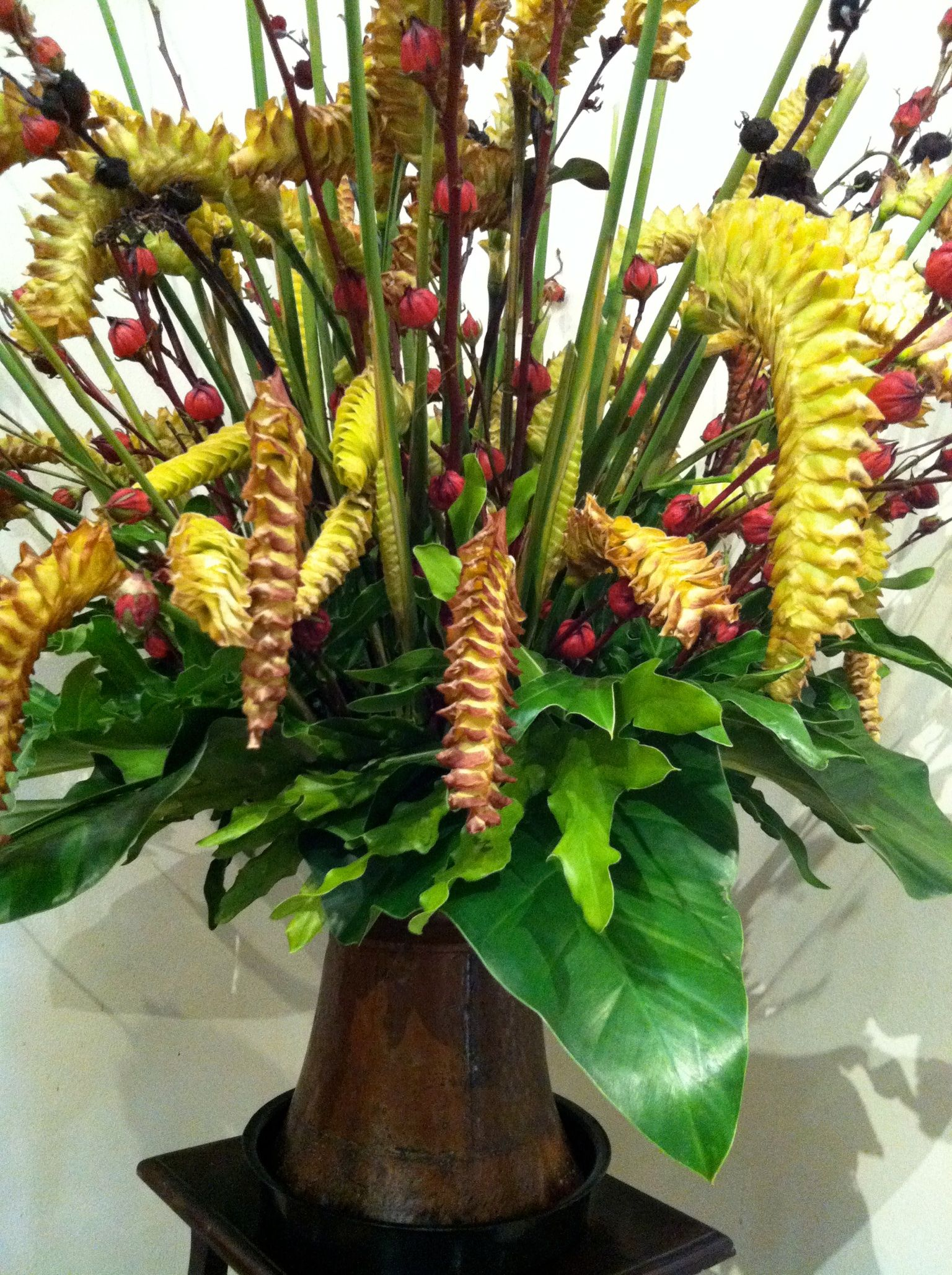 Bin House inspiration Tropical flower arrangements
