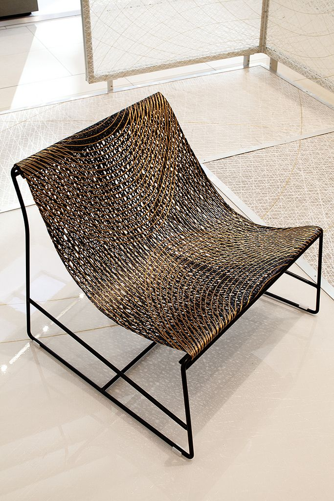 Net Chair Of Metal And Durable I Mesh Yacht Sail Fabric