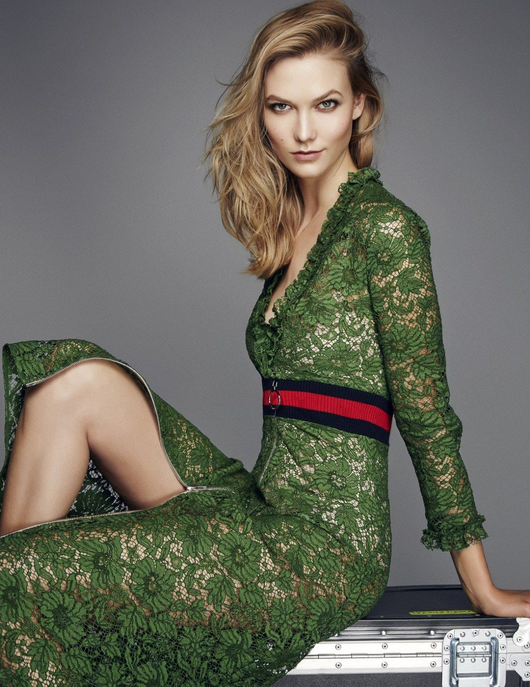 Karlie Kloss by Kai Z Feng by Elle UK February 2016 - Gucci