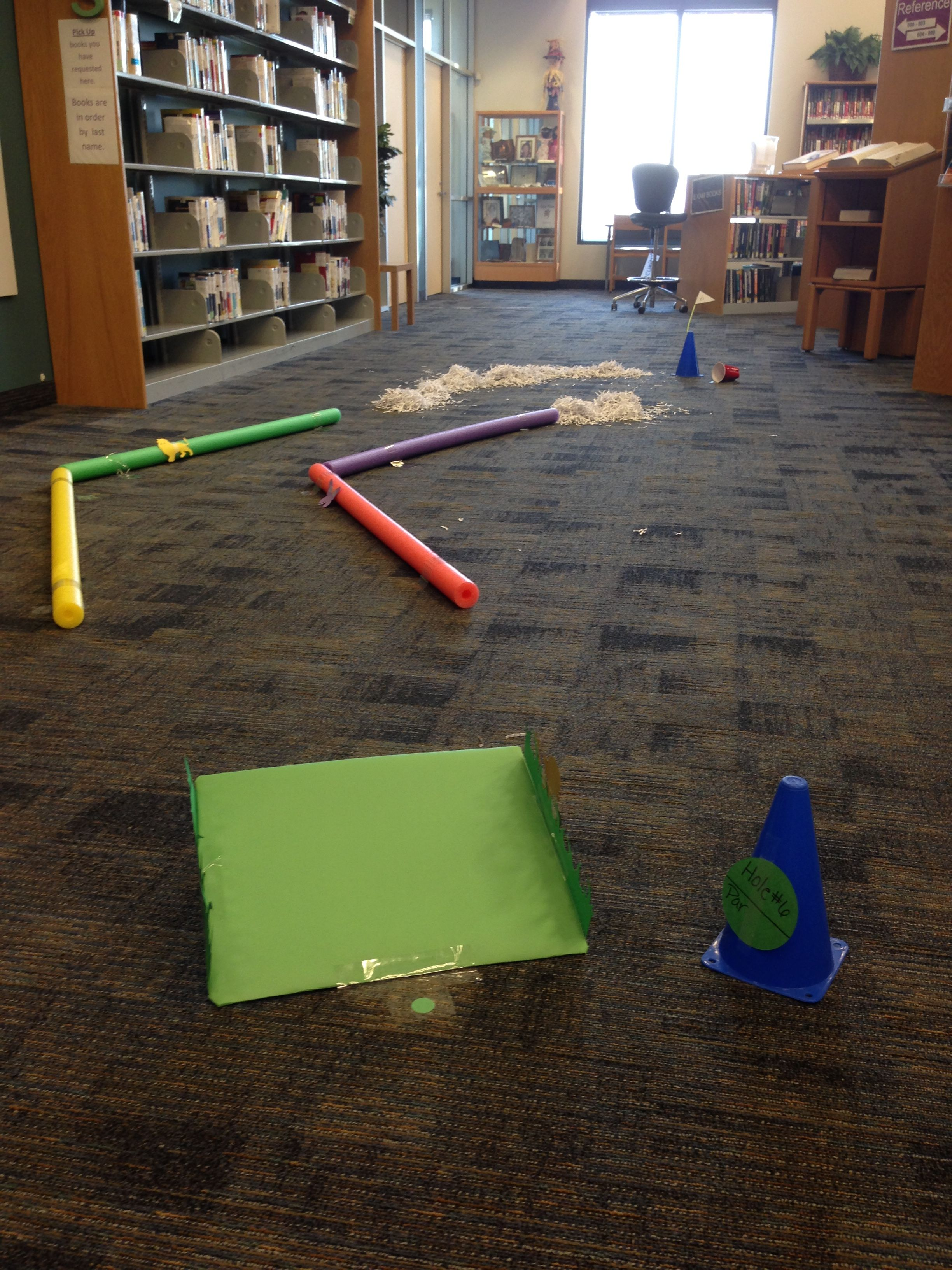 Mini Golf At The Library Summer Reading Program Library Programs Summer Reads 2016