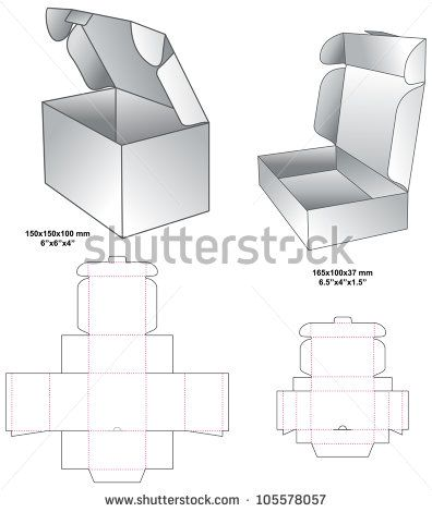 Image Result For Glueless Box Template