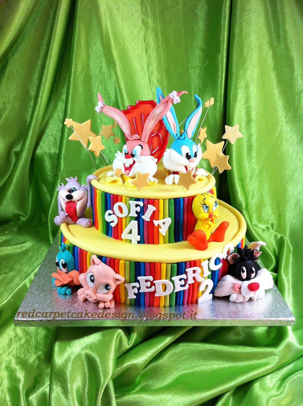 TINY TOONS CAKE By Red Carpet Cake Design