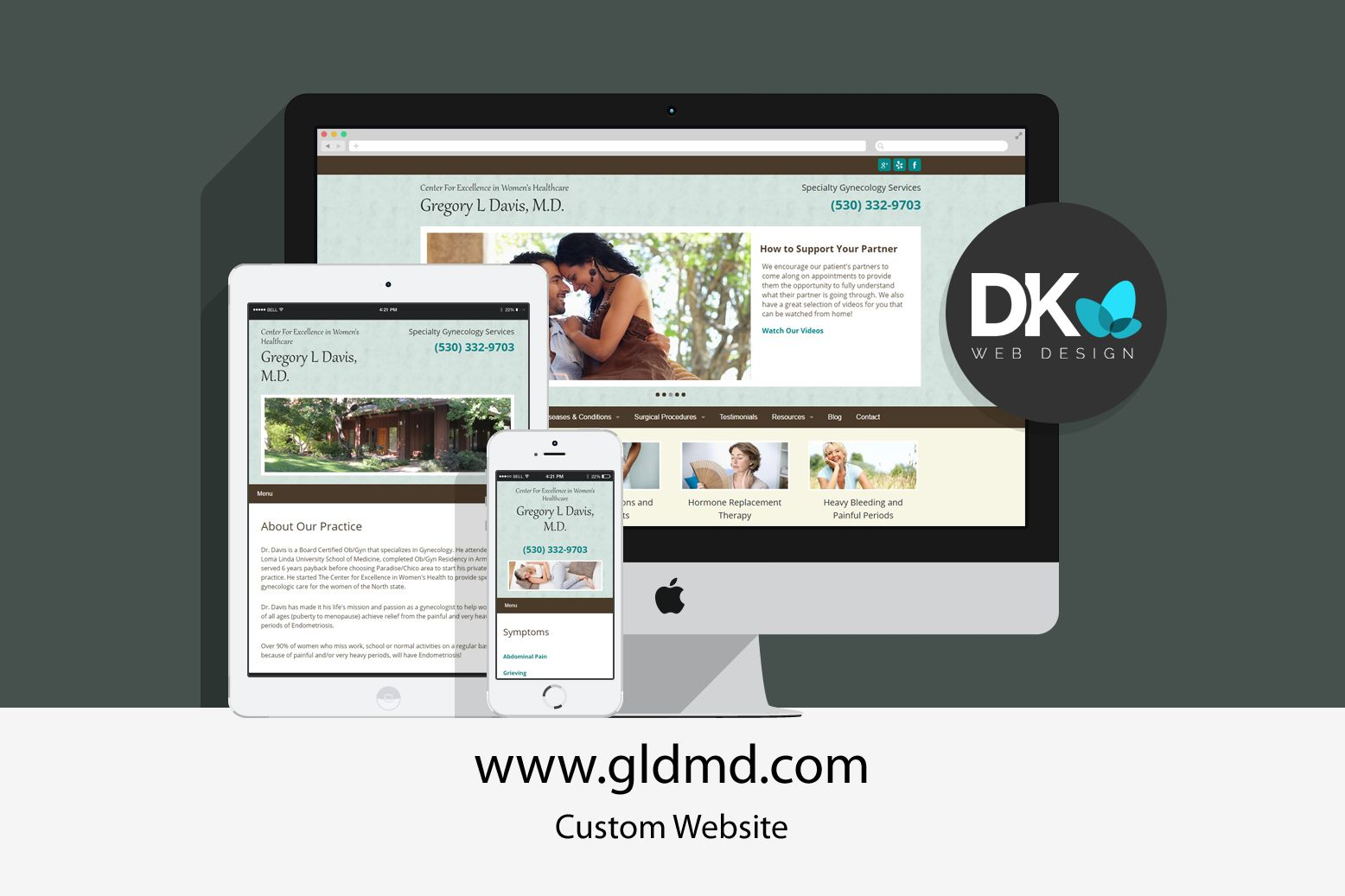 Custom Website Design Dr Gregory L Davis Custom Website Design Custom Website Website Design