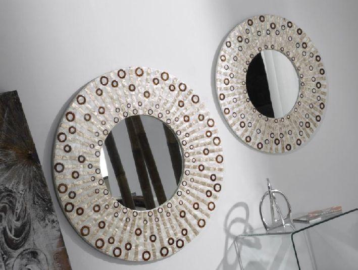 Espejo redondo nacar espejos redondos de nacar espejos for Espejos redondos decorativos