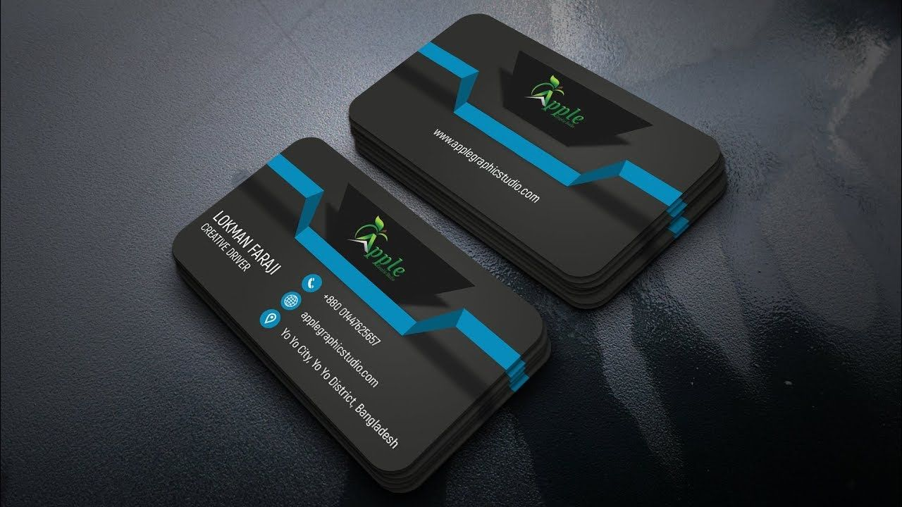 How to Create 3D Business Card Design Photoshop Tutorial | Business ...