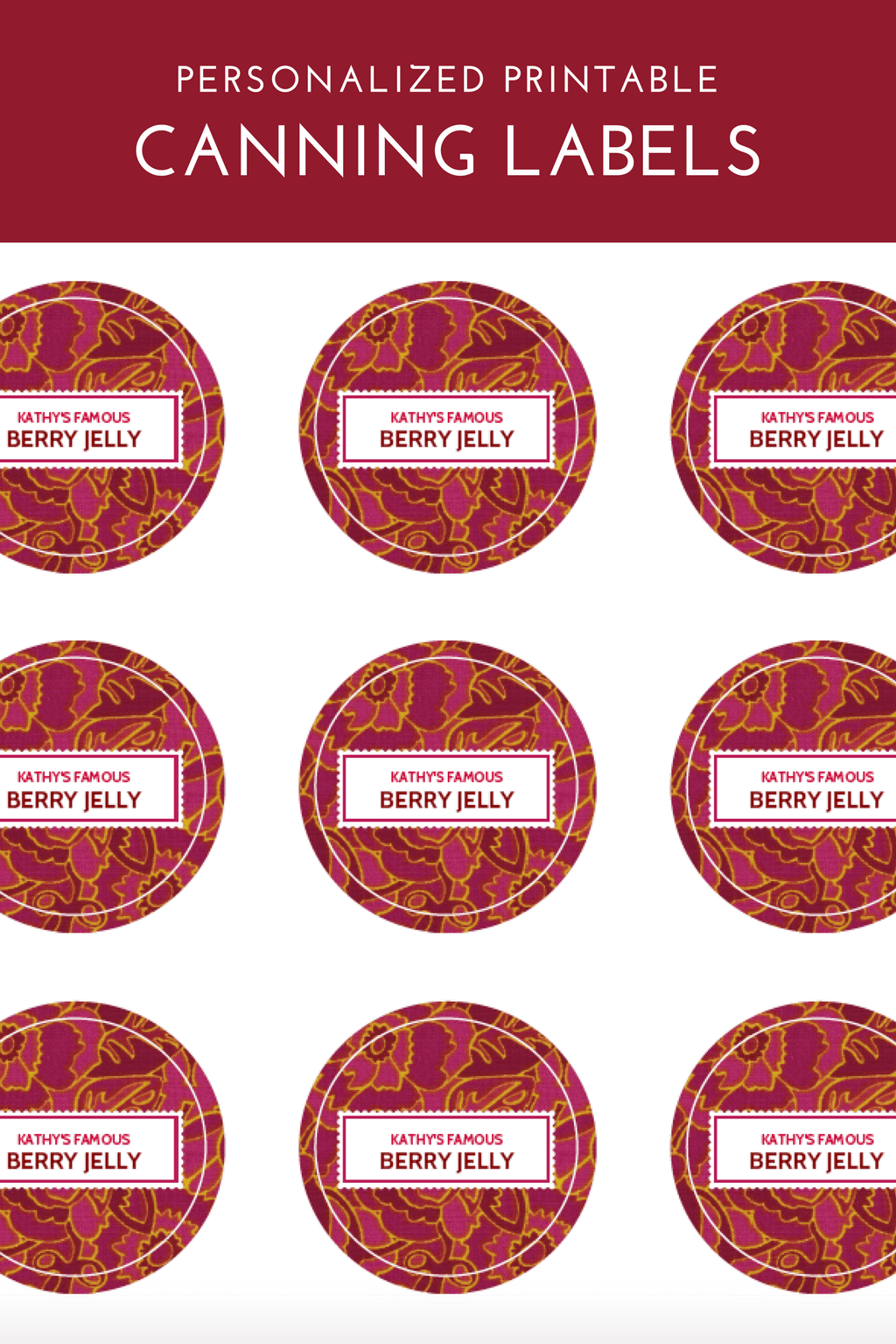 canning label template | printables | canning labels, canning, diy gifts