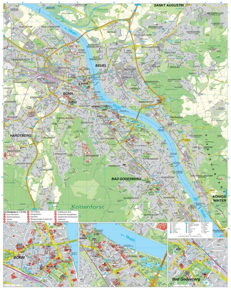 Bonn tourist map Maps Pinterest Tourist map Bonn and City