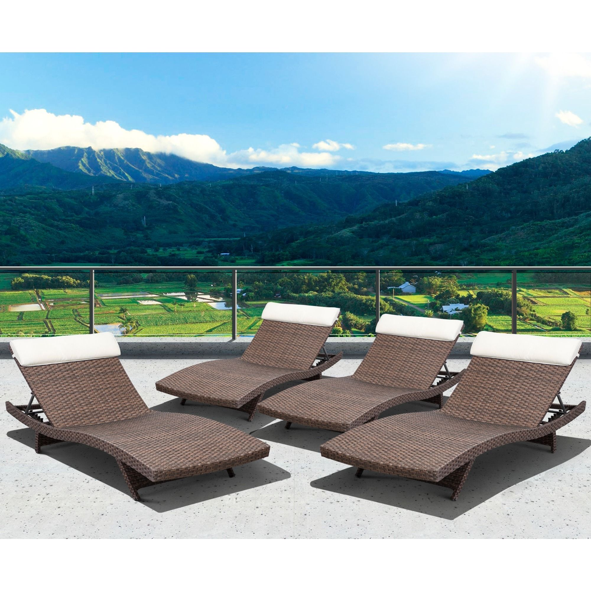 The Mykonos Deluxe patio lounger set bines quality style and