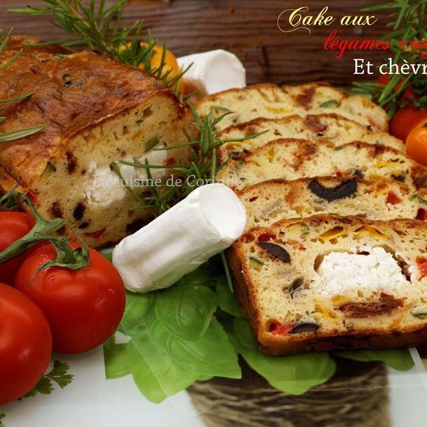 Cake au chèvre et légumes confits