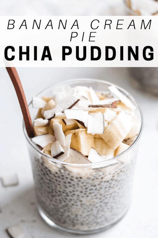 Banana cream pie chia pudding