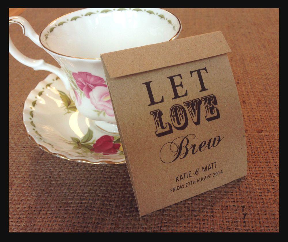 personalised tea bag vintage wedding favours shabby chic