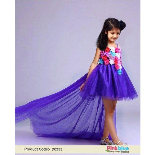 29a1f4a91b4d Princess Designer Flower Girl Dress with Train