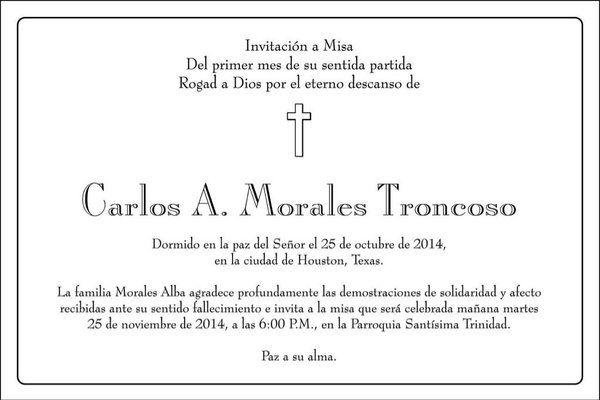 Invitacion A Misa Requiem Frases Para Invitaciones Crear