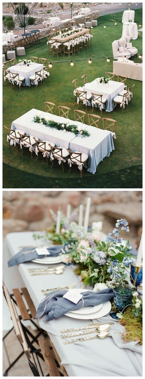 Wedding decorations dusty blue december 2018 Top  Classic Romantic Dusty Blue Wedding Decor Ideas  Dusty blue