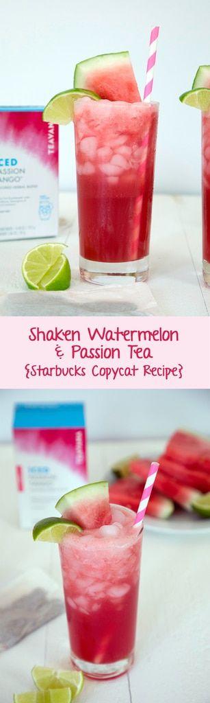 Starbucks Shaken Watermelon And Passion Tea Copycat Recipe Copycat Starbucks Recipes Spritzer Recipes Detox Tea Recipe