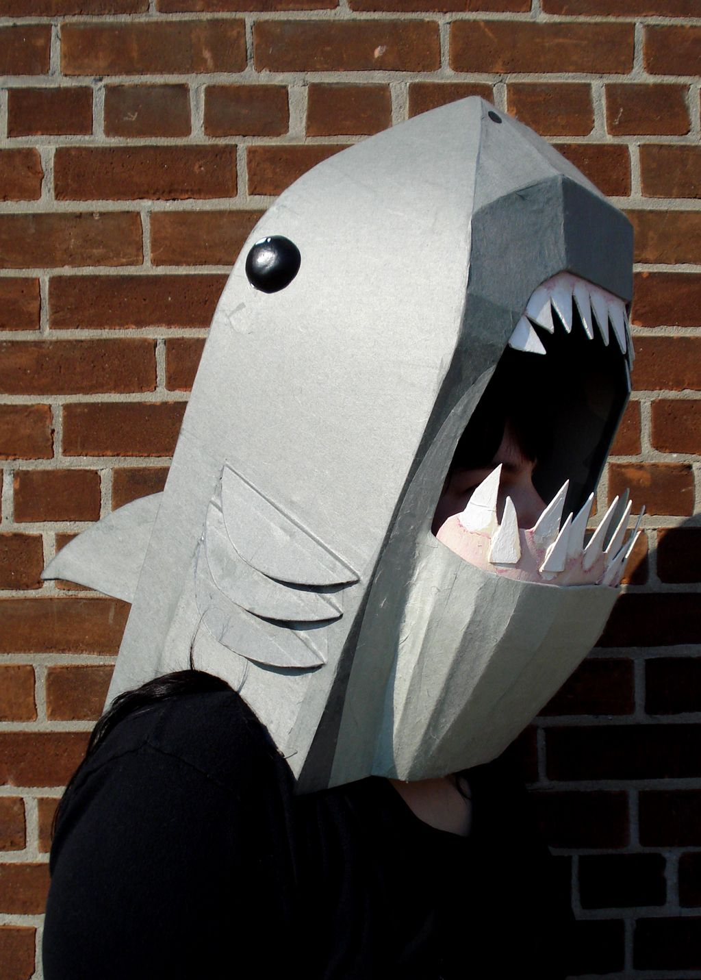 Cardboard shark mask. | Cardboard Costume Craziness! | Pinterest ...