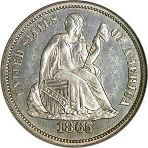 1865 10c Ms Seated Liberty Dimes Ngc Rare Coins Coin Collectors Valuable Coins
