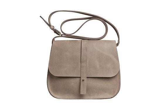 Women messenger bag, leather saddle bag, gray womens messenger bag, taupe  women crossbody bag, cros ba348e76e6