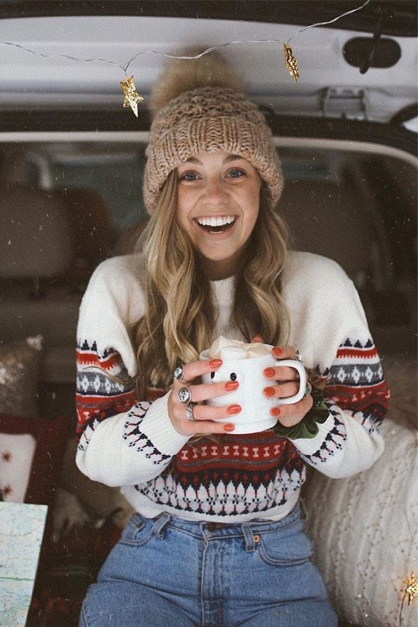 30 Adorable Winter Outfits With Beanies - 6