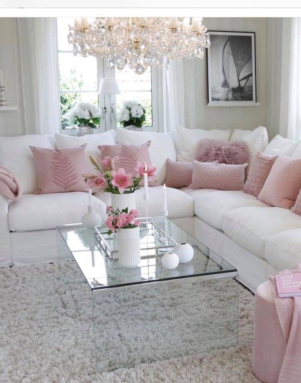 Romantic Living Room: 50 Romantic Shabby Chic Living Room Decor Ideas In 2020