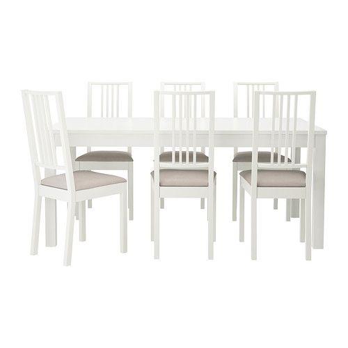 IKEA   BJURSTA / BÖRJE, Tisch Und 6 Stühle, Die Tischgröße Lässt Sich  Schnell
