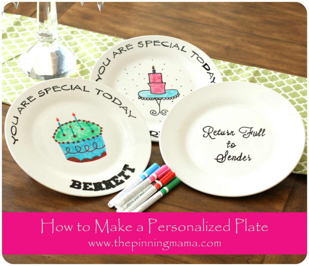 DIY How to Make a Personalized Birthday Plate .thepinningmama.com  sc 1 st  Pinterest & DIY How to Make a Personalized Birthday Plate www.thepinningmama.com ...