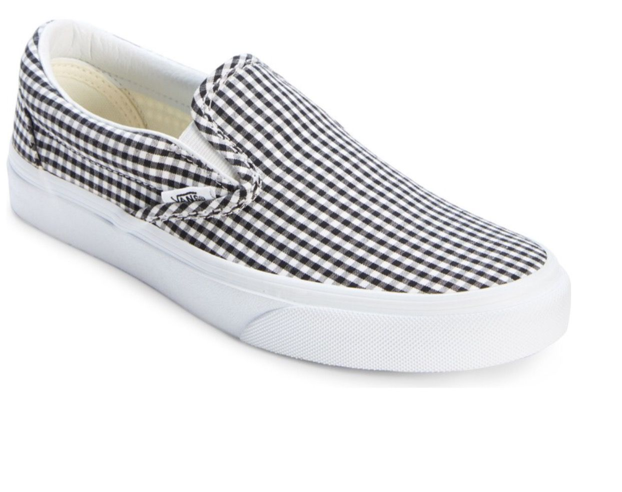 99096c8c73 Vans  gingham slip on sneakers. (Sold out on nordstrom.com)