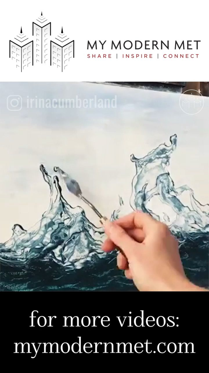 Amazing art With Meaning is part of Paintings With Hidden Meanings Telegraph - Calming Realistic Wave Paintings by Irina Cumberland