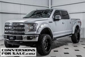 Lifted Silver 2016 Ford F150 Lariat