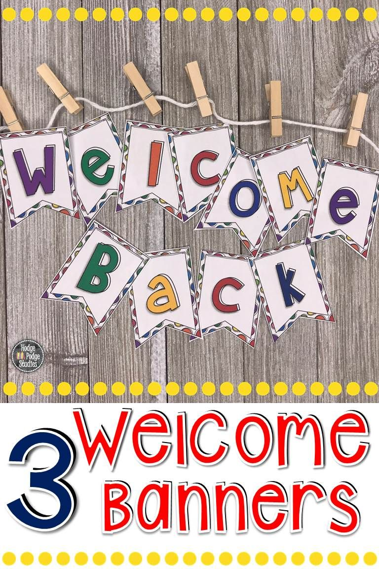 Welcome Back To School Banner Editable |