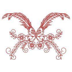 Redwork Fancy Birds 04(Md) machine embroidery designs