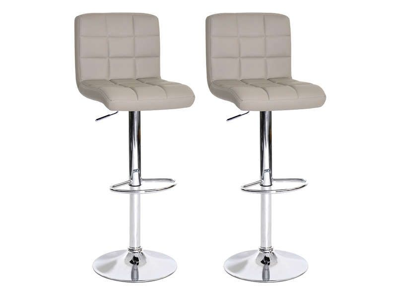 Lot De Tabourets De Bar Réglable Assise Rotative Tabourets - Chaises bar conforama pour idees de deco de cuisine