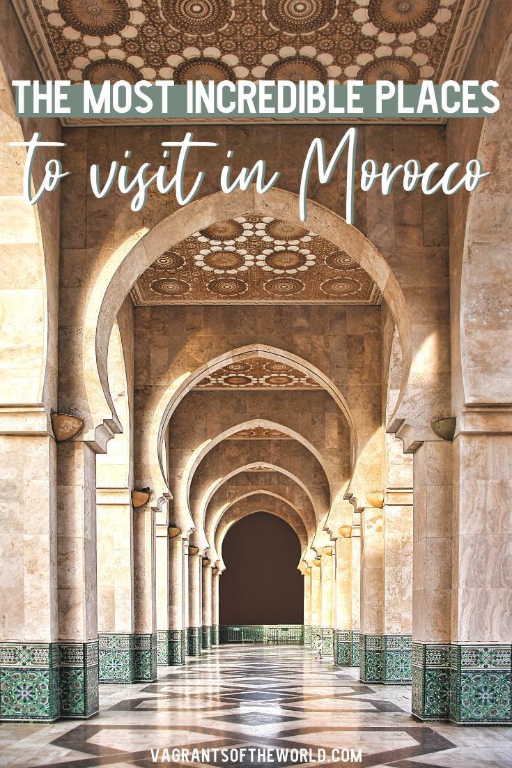 The Most Incredible Places to visit in Morocco - this is the Ultimate Morocco Bucket List. How to plan the perfect Morocco Itinerary! Discover the exotic cities of Morocco from Marrakech to Tangier and indulge in unique travel experiences such as hiking the High Atlas or riding a camel into the sunset in the Sahara.Here is everything you need to know to plan a trip to Morocco including what to pack for Morocco and what to read before you go.