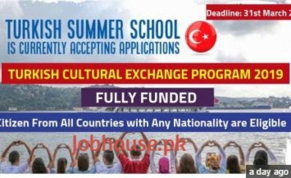 Turkey Exchange Program 2019 Ministry of Youth & Sports