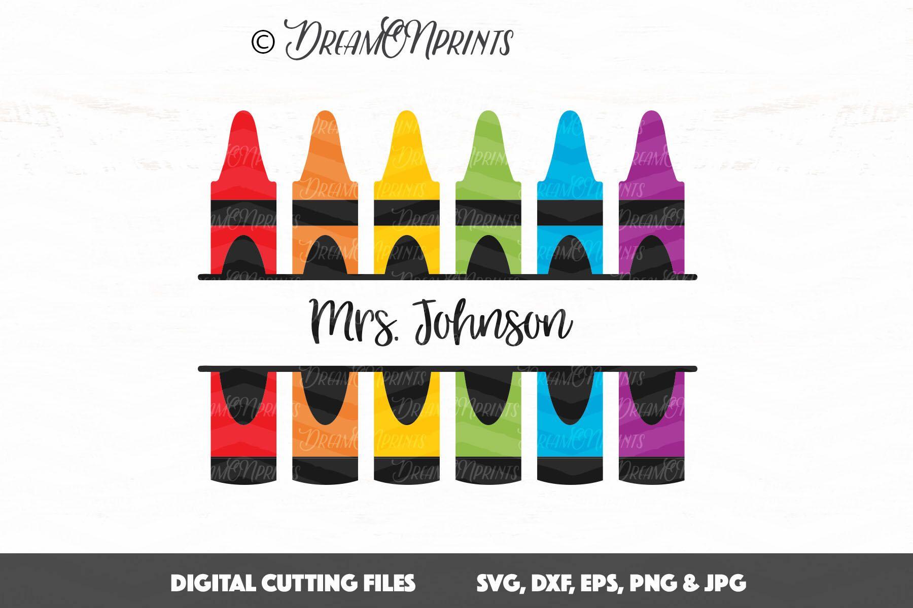 Crayon Monogram Svg Dxf Teacher Svg Teacher Monogram Svg Crayon Svg Back To School Svg Split Mo Crayon Monogram Alphabet Letters Clipart Silhouette Crafts