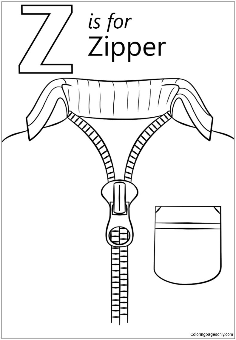 Letter Z Coloring Sheets For Toddlers Free Pages Preschool Colouring Page Kindergarten Printable Image Alphabet Coloring Pages Letter A Coloring Pages Letter Z