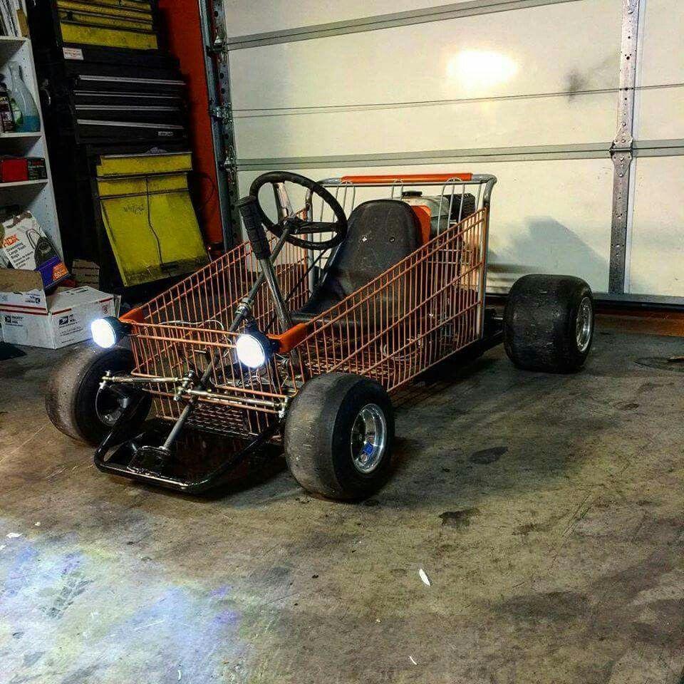 Shopping cart go kart … | cart | Pinte…